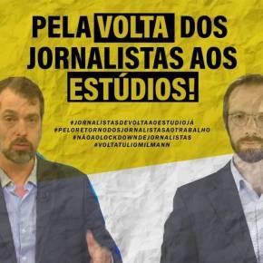 """""""Pela volta de Jornalistas aos Estúdios"""" é resposta ao movimento destes pela volta as aulas, mesmo semvacinação"""