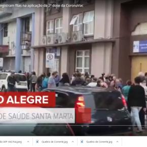As Filas por Vacina que envergonharam Porto Alegre na mídia nacional, são culpa do Melo e não doSUS