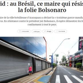"""""""Covid: no Brasil, esse prefeito resiste à loucura de Bolsonaro"""" diz Jornal Francês sobre Edinho Silva, Prefeito deAraraquara"""