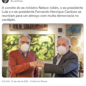 Frente Ampla em torno do que pode dar certo: Lula e FHC juntos em defesa dademocracia