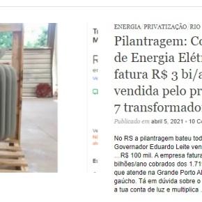 PRIVATARIA: SUSPENSA PRIVATIZAÇÃO DA CEEE QUE EDUARDO LEITE ENTREGOU POR… R$ 100MIL