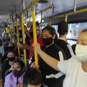 COVID-19 enlatada: ônibus de Porto Alegre são autorizados a transportar até 20 passageiros em pé (Veja asfotos)