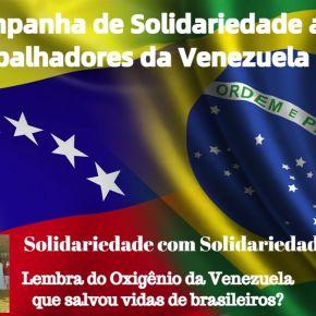 Campanha de Solidariedade ao Povo Venezuelano, vítima de sanções econômicas dos EUA. Saiba por que e comocontribuir: