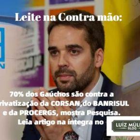 PODCAST: Leite na Contra mão do mundo: 70% dos gaúchos são contra privatização da CORSAN, BANRISUL EPROCERGS