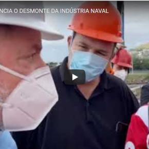 Em Niterói, Lula conversa com operários da indústria naval e promete recuperar o setor (vejavídeo)