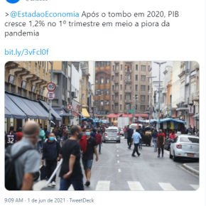 Podcast: O PIB cresce 1,2% enquanto pandemia avança e desemprego e pobreza batem recordes no Brasil. Porque?