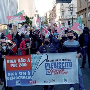 Pesquisa de opinião aponta que 70% dos gaúchos são contra Privatização da CORSAN, BANRISUL ePROCERGS