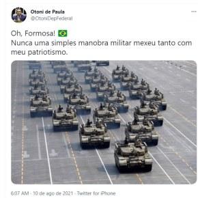 MARKETING DE GUERRA: Sobre o desfile militar em Brasília e as narrativas(Por LucioUberdan)