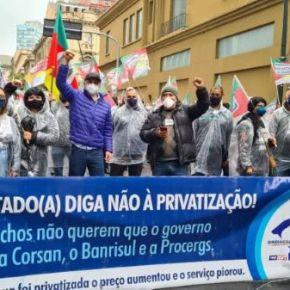 Movimento contra a Privatização da CORSAN e em Defesa da Água Pública toma as ruas de Porto Alegre nestaterça