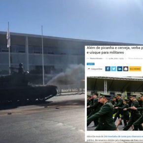 Teriam os Generais abastecido o tanque do desfile em Brasília com…cerveja ou whiskysuperfaturado?