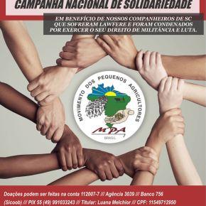 Campanha de Solidariedade a militantes do MPA de SC,  vítimas de Lawfare, condenados injustamente por sua militânciapolítica