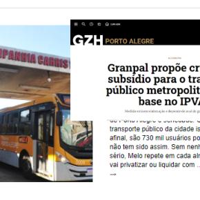 O golpe por trás da Privatização da CARRIS é abocanhar os subsídios que virão, confessa manchete daGaúcha/ZH