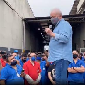 Vamos reindustrializar o Brasil e investir no social, diz Lula aos trabalhadores da Metalúrgica Delga, em Diadema(Vídeo)